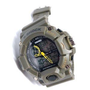 Men's Water Resistant Watch Rubber Band Alarm